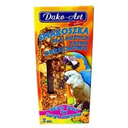 DAKO - ART Tyčinky pre veľkých papagájov - orechové 2ks
