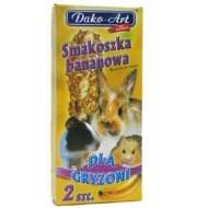 DAKO - ART Tyčinky pre hlodavce - banánové 2ks