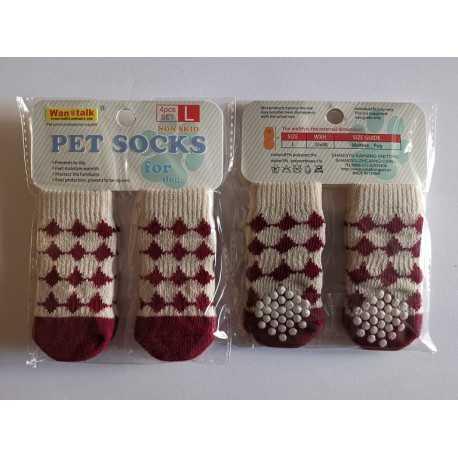 Ponožky Bordové- L